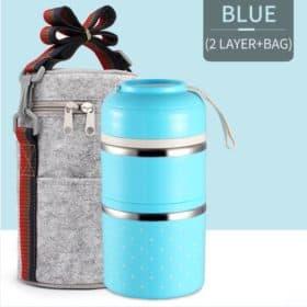 Azul - 02 Compartimentos Vedados+Bag