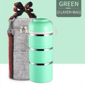 Verde - 03 Compartimentos Vedados+Bag